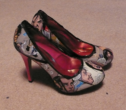 HackSlash comic book shoes!
