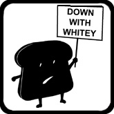 Down With Whitey (black graphic)