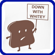 Down With Whitey (brown graphic)